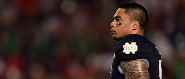 Manti Teo - (Photo by Mike Ehrmann/Getty Images)